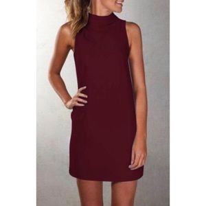 VeniDress Simple Turtleneck Mini Dress